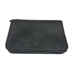 ANDREA D'AMICO man black wallet 100% leather MADE IN ITALY