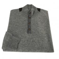FERRANTE man gray mesh 100% wool MADE IN ITALY