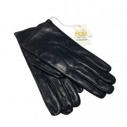 LA BOTTEGA DEL GUANTO guanti uomo pelle blu con interno 100% cashmere MADE IN ITALY