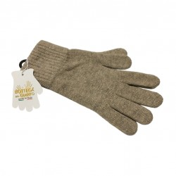 LA BOTTEGA DEL GUANTO man beige gloves 80% wool 20% polyamide MADE IN ITALY