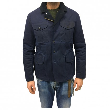 FILSON jacket man coated cotton blue 100% COTTON MADE IN ITALY