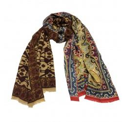 100x200 woman scarf 50% wool 50% silk