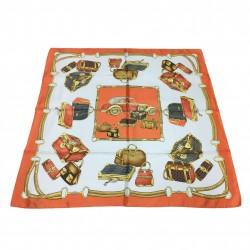 OSTINELLI 1923 foulard donna arancio cm 86x86 100% seta MADE IN ITALY