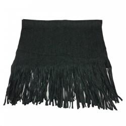 CA' VAGAN sciarpa donna grigio 100% lana MADE IN MONGOLIA