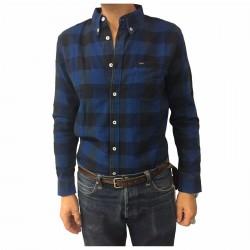 LEE camicia uomo quadri blu/nero mod L882LHCZ 100% cotone