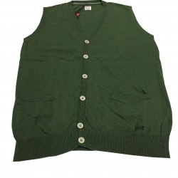 VINTAGE 55 light blue man vest 35% cotton 35% polyamide 25% viscose 5% cashmere