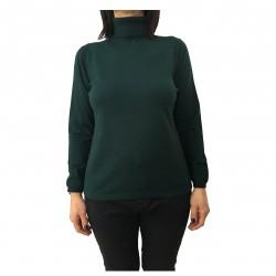 PERSONA by Marina Rinaldi maglia donna collo alto verde mod ALBO 50% viscosa 25% poliammidica 25% poliestere