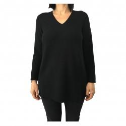 PERSONA by Marina Rinaldi black woman sweater mod ALTO 50% wool 50% acrylic MADE IN ITALY