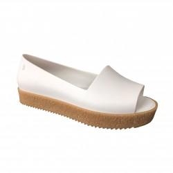 MELISSA woman's shoe Open toe, model PUZZLE AD Article 31882 white / beige 100% rubber