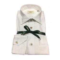BORRIELLO camicia uomo bianco operato 100% cotone MADE IN ITALY