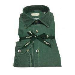 BORRIELLO man green shirt 100% cotton MADE IN ITALY