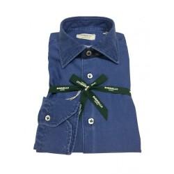 BORRIELLO man denim shirt 100% cotton MADE IN ITALY