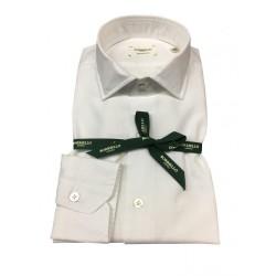 BORRIELLO camicia uomo bianco 100% cotone MADE IN ITALY