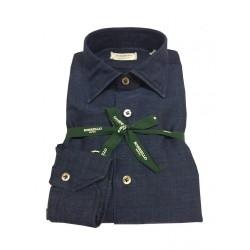 BORRIELLO man shirt 100% cotton denim MADE IN ITALY