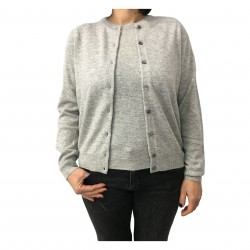 CA' VAGAN giacca donna ghiaccio mod 11327 100% cashmere MADE IN MONGOLIA