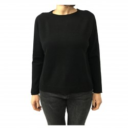 CA' VAGAN woman black sweater 100% cashmere 13164 MADE IN MONGOLIA