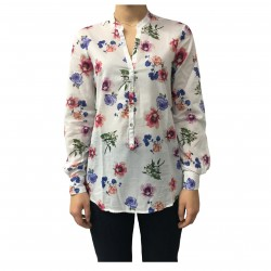 AND woman shirt white/multicolor 100% cotton mod D774E846L