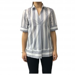 AND woman shirt white/blue cotton mod D477E818M