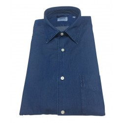 ASPESI man denim shirt man SEDICI CE36 6191 with 100% cotton pocket