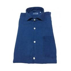 ASPESI camicia uomo colore denim mod SEM II CE52 E309 100% lino