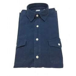 ASPESI indigo man's shirt mod GASOLINA I6 CE74 E742 100% cotton
