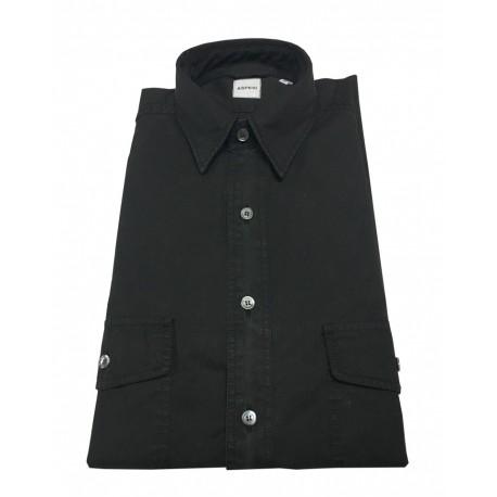 ASPESI camicia uomo nero mod CE74 2561 GASOLINA 100% cotone