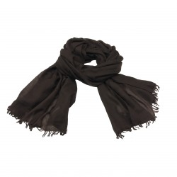 CA' VAGAN scarf woman brown 100% cashmere MADE IN MONGOLIA