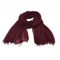 CA' VAGAN scarf woman bordeaux 100% cashmere MADE IN MONGOLIA