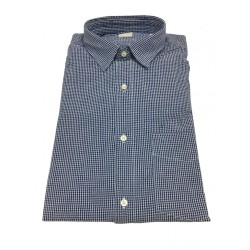 ASPESI man's shirt in white / royal blue square, with long sleeves and pocket model REDUCED II CC02 A330 100% cotton