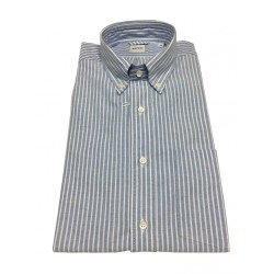 ASPESI man's shirt CE14 B032 B.D. MAGRA blue / white stripes, 100% cotton