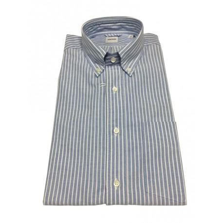 ASPESI camicia uomo oxford righe celeste/bianco, 100% cotone