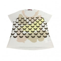MARINA SPORT by Marina Rinaldi t-shirt women ivory mod VALDO 100% cotton