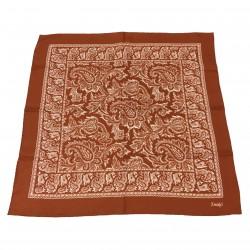 DRAKE'S foulard uomo mattone 100% seta MADE IN ITALY