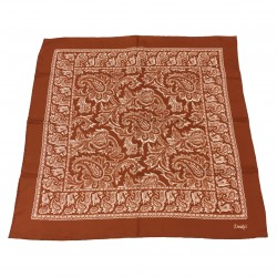 DRAKE'S men's foulard orange 100% silk MADE IN ITALY