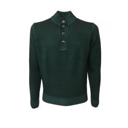 FERRANTE maglia uomo Serafino verde TINTO FREDDO art. 22317 MADE IN ITALY