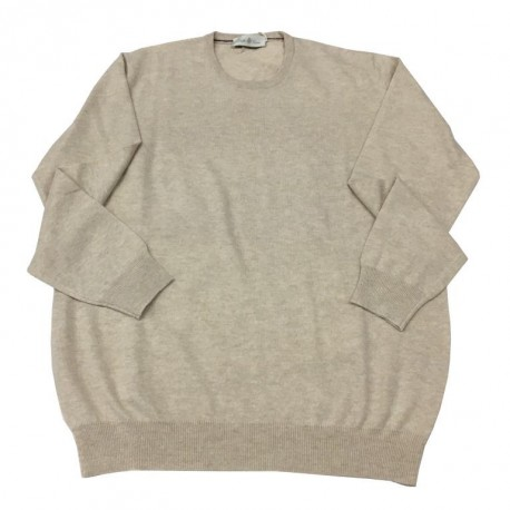 DELLA CIANA maglia uomo beige chiaro 100% lana MADE IN ITALY