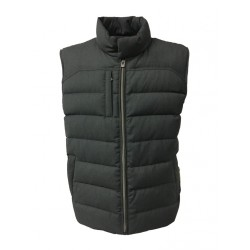 LUIGI BIANCHI MANTOVA gilet Anthracite man 100% wool filling 90% down 10% feathers