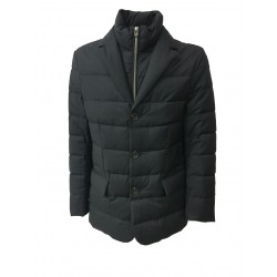 LUIGI BIANCHI MANTOVA giacca blu con pettorina 100% lana imbottitura 90%piuma 10% penne