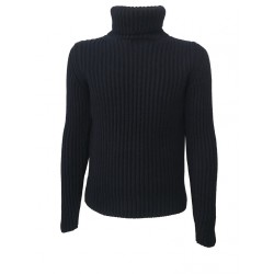 GRP man sweater blue 100% wool MADE IN ITALY