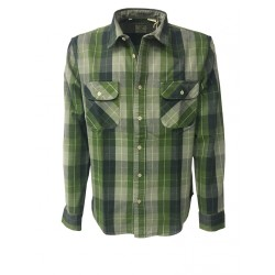 LEVI'S VINTAGE CLOTHING man green square shirt 100% cotton MADE IN ITALY