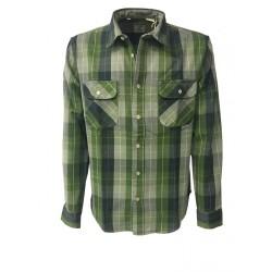 LEVI'S VINTAGE CLOTHING camicia uomo quadri verde 100% cotone MADE IN ITALY