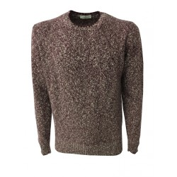 PANICALE man bordeaux/ecru sweater 100% cashmere MADE IN ITALY