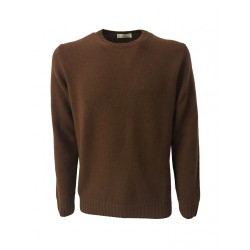 PANICALE crew-neck sweater color brick 100% wool mod U21461G / M MADE IN ITALY