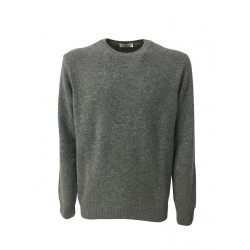 PANICALE crew-neck sweater color gray 100% wool mod U21461G / M MADE IN ITALY