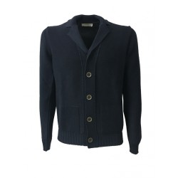 ALPHA STUDIO blue cotton man's jacket, model AU-5080E, 100% cotton slim fit