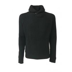 LEE maglia uomo coste inglesi nera mod L84WAMDF PREMIUM SHAWL PULL 100% cotone