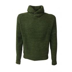 LEE maglia uomo coste inglesi verde mod L84WAMDF PREMIUM SHAWL PULL 100% cotone