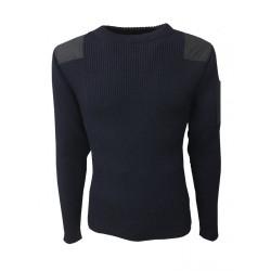 SAINT-JAMES maglia uomo blu mod CONDOR II 100% lana MADE IN FRANCE