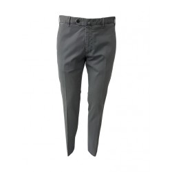 LUIGI BIANCHI light gray cavalry trousers 98% cotton 2% elastane