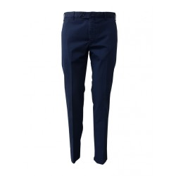 LUIGI BIANCHI blue cavalry trousers 98% cotton 2% elastane